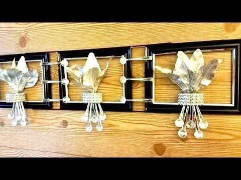 Diy Silver Metallic Wall Decor Using Dollar Store Items Quick and ...
