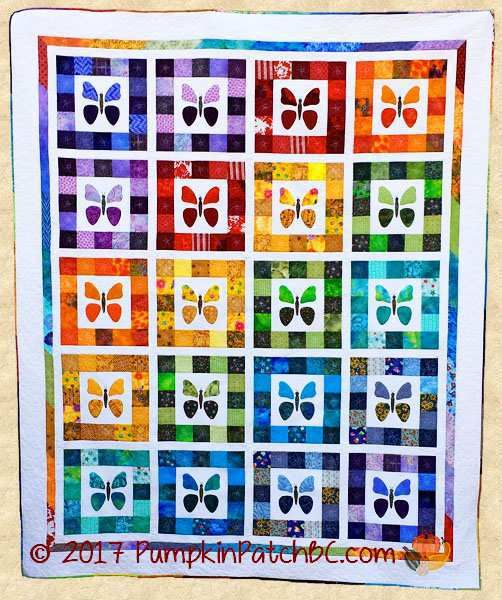 Regenbogen Schmetterlinge Quilt PPP032-DCM
