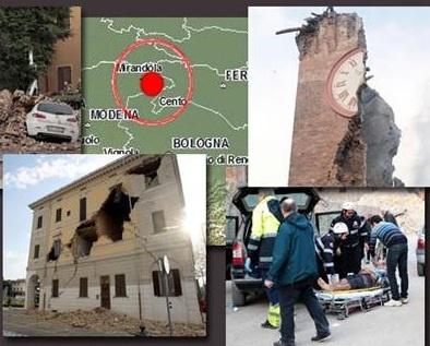 Φονικός σεισμός στη βόρεια Ιταλία 5,9 βαθμών