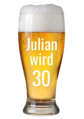 Witzige Einladungskarte Mit Eigenem Namen Zur Party Zum 30. Geburtstag Mit  Großem Bierglas