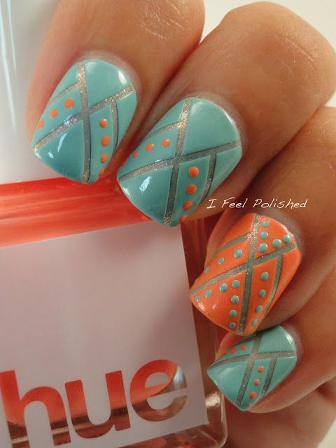 Native American Inspired Nails by I Feel Polished (I understand the colors  are appropriate for a Native American theme, but I don't much care for the  colors ... - 405 Best Nail Art Images On Pinterest Make Up, Enamels And