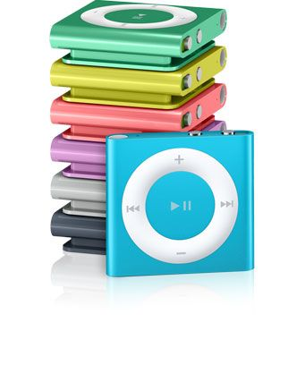 Apple - Colorful iPod shuffle with VoiceOver, playlists, and more. NEED for runs, gym seshes! #fftech #fitfluential