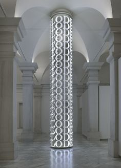 electronic LED array with white diodes - by Jenny Holzer / American Art