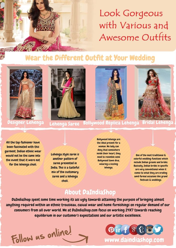 With #DaIndiaShop.com, you can #purchase #various #outfits to look #beautiful and #attractive. To get more info - goo.gl/BPzT4x