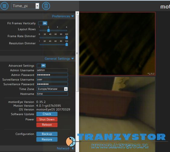 MotionEYE OS on a Raspberry Pi for home security