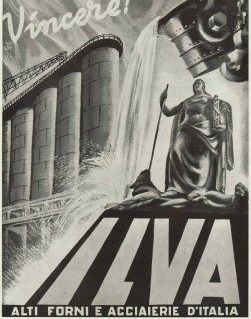 Wartime Italian Industrial Poster
