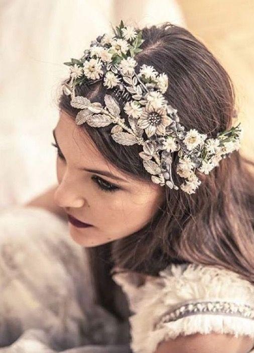 Corona de novia estilo Art-deco