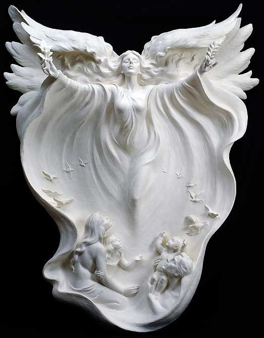 Angel by Gaylord Ho, sculptor,