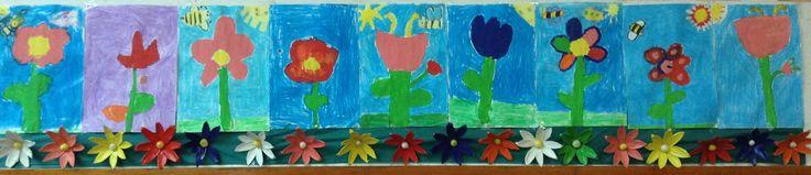 Flores. Alumnos de cinco años. Colegio Nuestra Señora Santa María. Madrid, España.