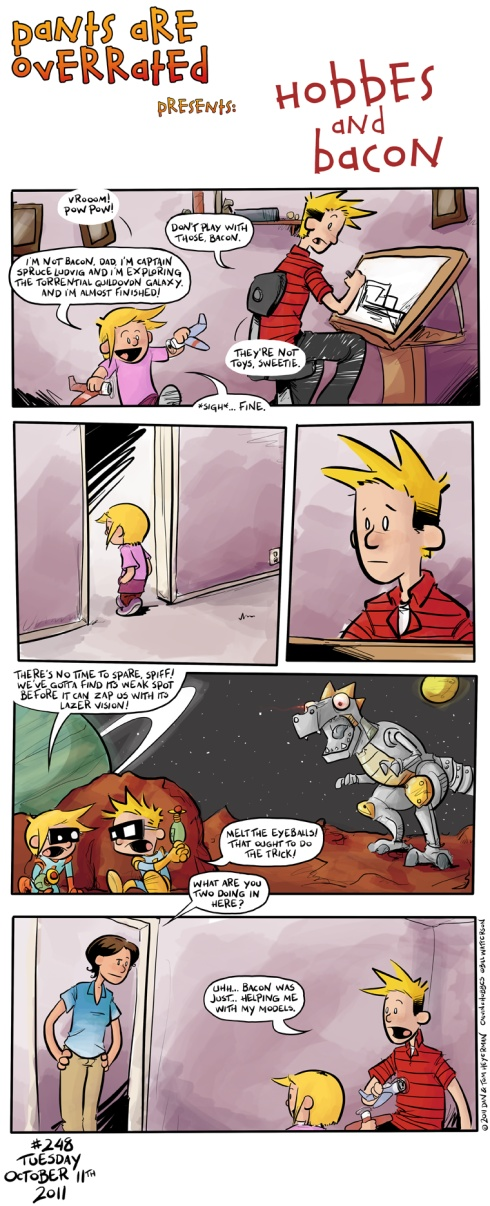 Hobbes and Bacon... Calvin makes the best father!! :')