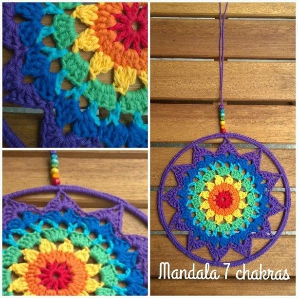 Mandala 7 chakras ♥ Nuevo diseño que podrás aprender en marzo! En breve la info completa  #mandalas #chakras #crochet #handmade #instalove #instagram #instacrochet