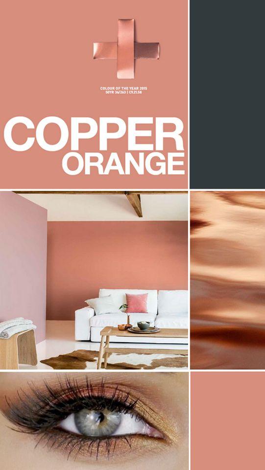 Kleurtrend 2015: Copper Orange...voor meer inspiratie www.stylingentrends.nl of www.facebook.com/stylingentrends