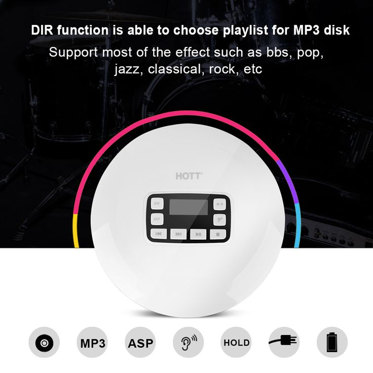 a portable shockproof bluetooth hifi estereo cd musica player auriculares kit