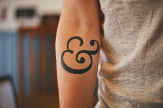 Rick Nunn's ampersand tattoo