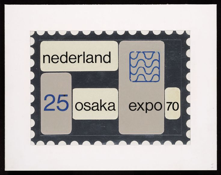 Ontwerp, postzegel Nederland 1970 Wereldtentoonstelling Osaka