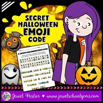 A SECRET HALLOWEEN EMOJI CODE contains a secret code activity that can come handy during Halloween! You get two kinds of sheets: one that has the secret message in Halloween emoji code and another that has the answer key.  The answer key can be shown to the students through the interactive whiteboard.