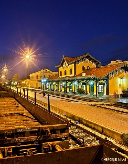 The train station of Volos, Magnisia, Greece / photo by Hercules Milas