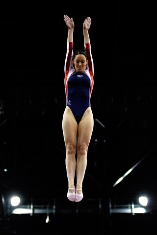 2012 London Test Event: Trampoline - katherine driscoll of great britain