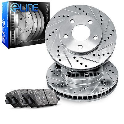 Front Eline Drilled Slotted Brake Rotors & Ceramic Brake Pads Fec.42062.02 #car #truck #parts #brakes #brake #discs, #rotors #hardware #res4206202