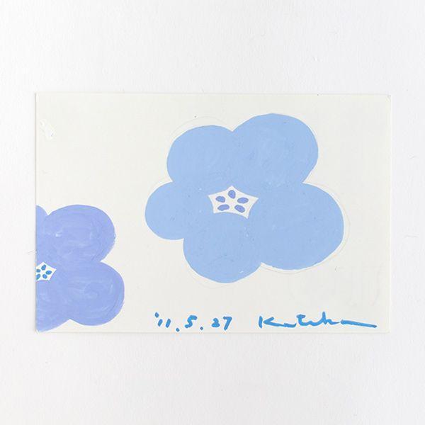 Our textile designer Katsuji Wakisaka draws one postcard everyday as a draft for the new textile design.