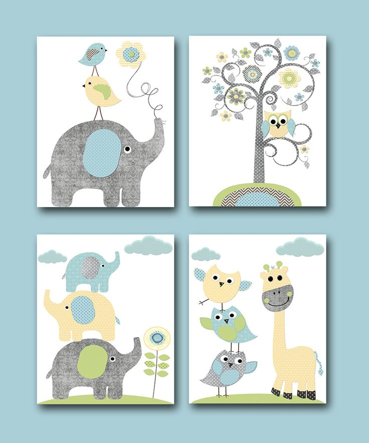 Childrens Art Kids Wall Art Baby Boy Room Decor por artbynataera