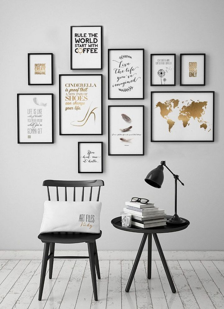 30 Smart Ways To Picture Frames On The Wall Creative Wall Decor Frames On Wall Picture Frame Wall