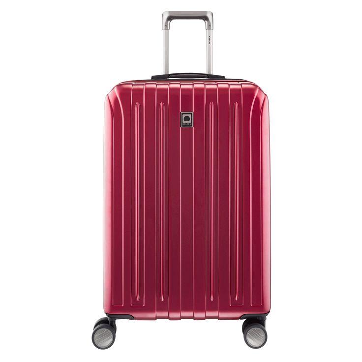 Mittlerer Trolley Delsey Vavin bei Koffermarkt: ✓Farbe rot ✓69,5x45,5x29 cm  ✓4 Rollen ✓erweiterbares Volumen  ✓aus Polycarbonat