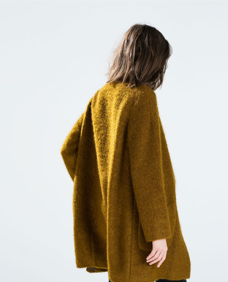 Image 4 of MOHAIR COAT WITH POCKETS from Zara