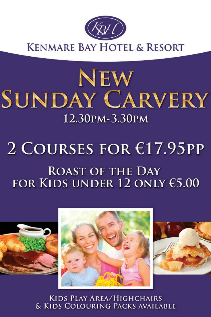 Sunday Carvery Lunch in beautiful Kenmare
