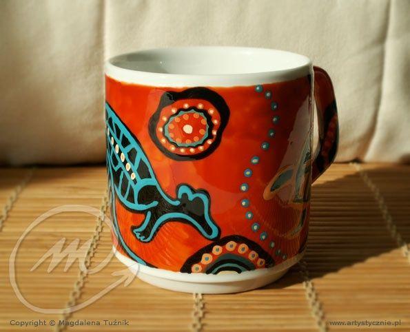 """Kubek  aborygeński """"ULURU"""" - Mug porcelain  Aboriginal """"ULURU"""""""