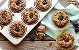 Gluten Free Blackberry Muffin with Walnut Crumble