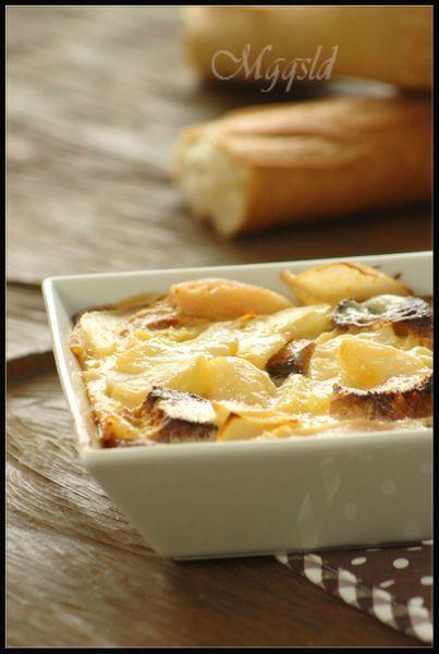 Moelleux de poires au pain dur