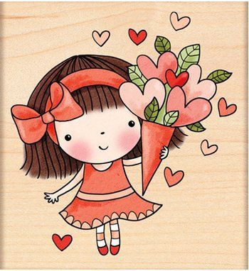 Sweetheart Mimi - Rubber Stamp