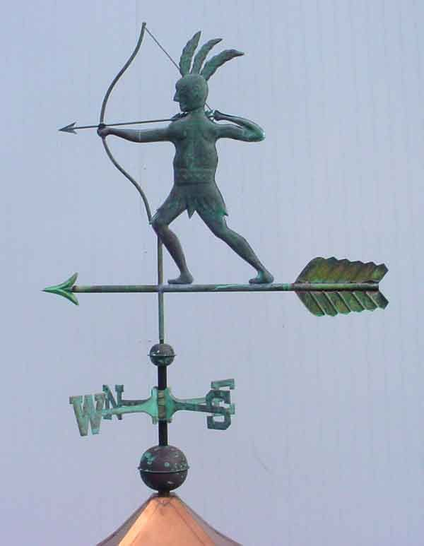 Indian Weather Vanes | Weathervanes, Weathervanes And Cupolas, Custom  Weathervanes, Copper .