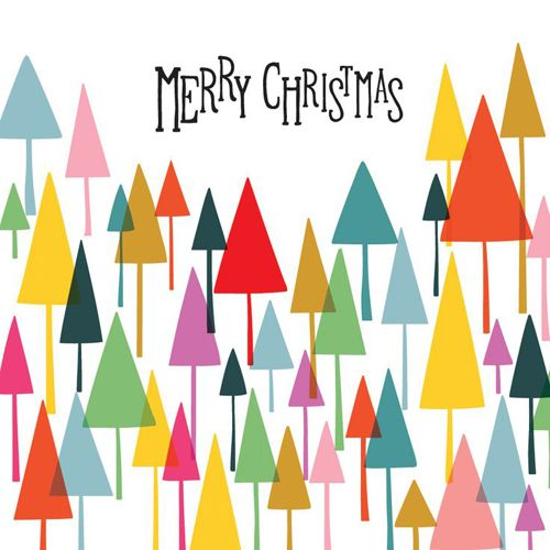 Modern Merry Christmas Trees Stationary by Oliver Bonas