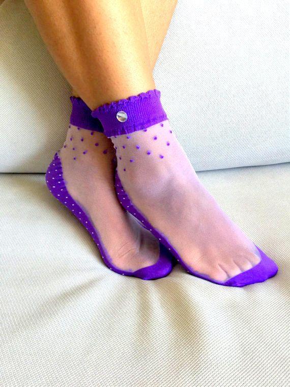 Women's Socks Transparent Socks Nylon Ankle Socks by ...