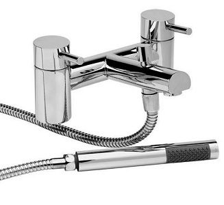 Onyx Bath Shower Mixer €99.00 Bath shower mixer tap complete with shower head, hose and wall bracket; Solid Brass with a Chrome Finish; Co-ordinating basin mono available; Excludes waste; H 170mm D 220.50mm W 150.50mm Body Diam 50.20mm Suitable for 180mm bath tap holes centres 1/4 turn Ceramic disc tech; Suitable for Combi Boilers; Pressurised Sys; Pumped Sys; Gravity Fed Sys. Min pressure of 0.2 Bar