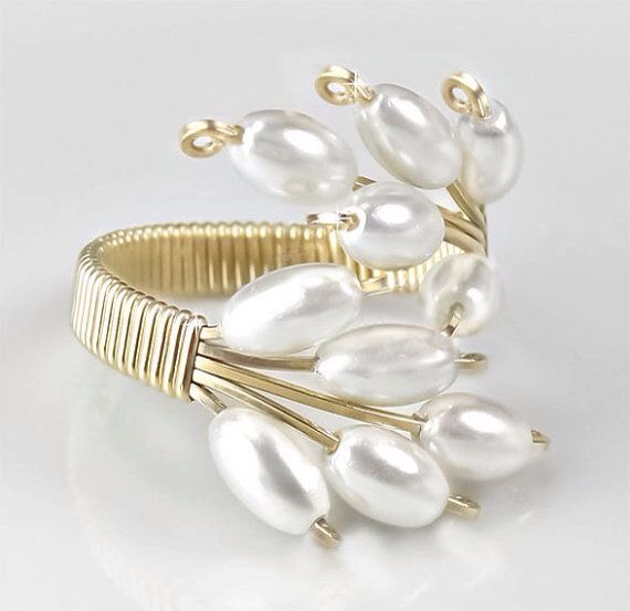 208 best Jewelry Making - Wire Rings images on Pinterest | Wire ...