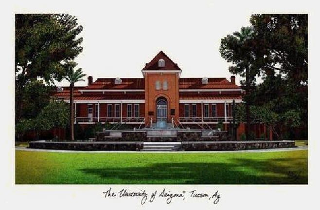 University of Arizona | University of Arizona Campus Landmarks Art Print