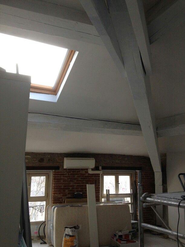 Poutres peintes renovation appartement pinterest poutres peintes poutres et peindre for Poutres peintes