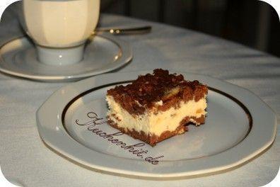 #SchokoKäsekuchen-Schokoladen Käsekuchen als Blechkuchen Die Zutaten dieses Sc…