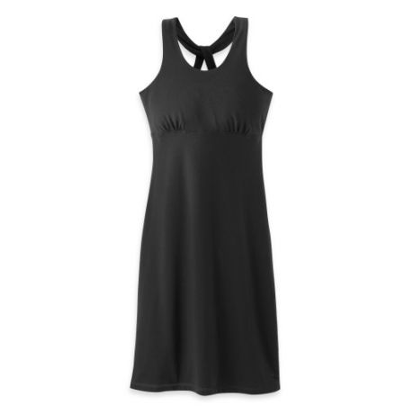 The Andromeda Dress lets in the sun with its beautiful criss-cross backstraps and v-neck styling. It supports with a built-in shelf bra, and the blend of cotton and spandex is soft and flowing.