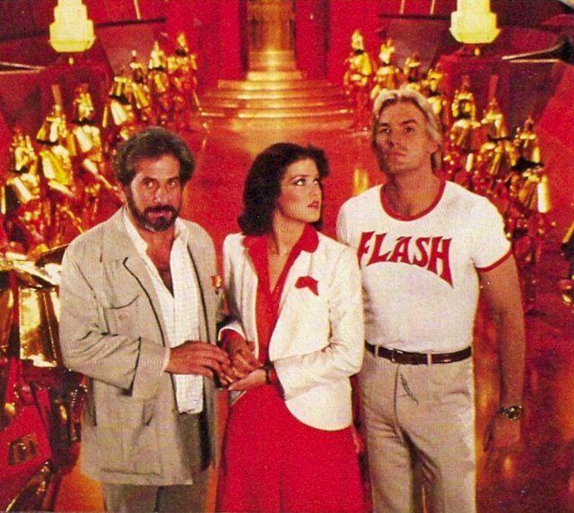 Still of Melody Anderson, Sam J. Jones and Topol in Flash Gordon (1980)