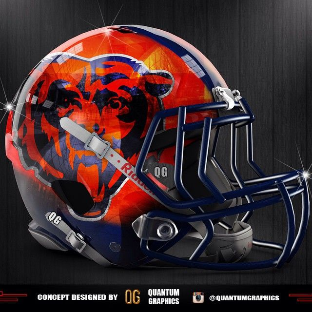 Chicago Bears helmet concept with a chrome finish!! Tag a Bears fan and let me know what you guys think about this helmet! #Chicago #Bears #ChicagoBears #BearDown #NFL #Football #sports #REVO #REVOSPEED #Helmet #Concept #Chrome #BearsNation #GoBears #ChiTown @chicagobears