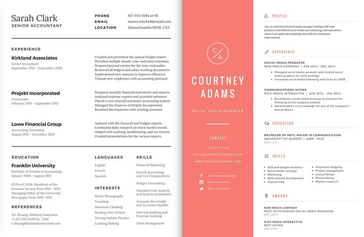 92 best creative resumes business cards images on
