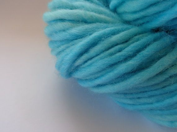 Turquois Wool Yarn  Bulky Weight by deorigenchile on Etsy, $20.00