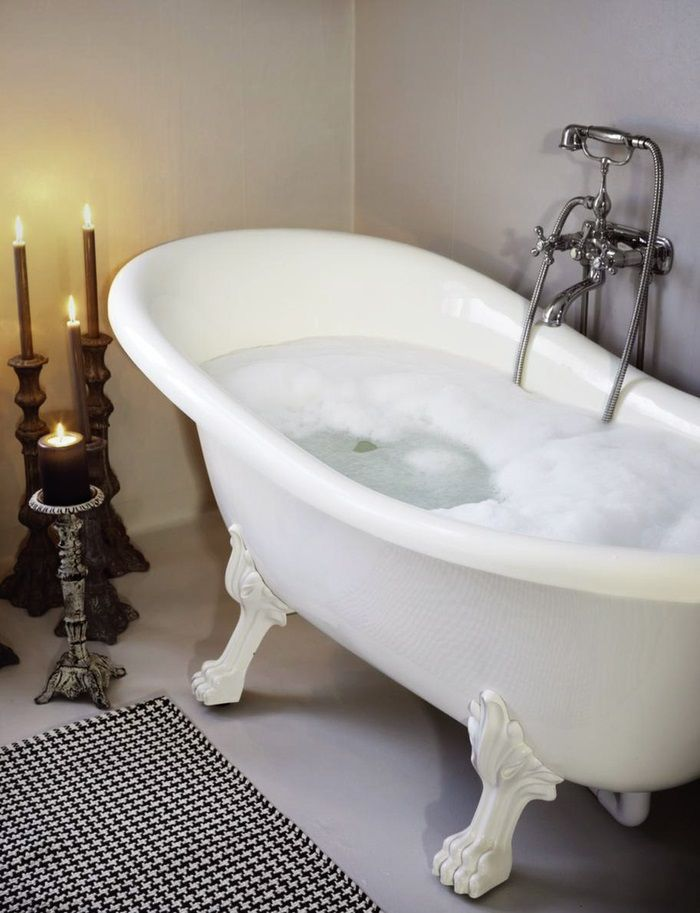 Cool Shabby Chic Bathroom Design With A Hearth And Sideboard White Wall Bathtub