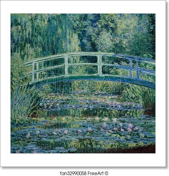 Free art print of Water Lilies and Japanese Bridge by Claude Monet