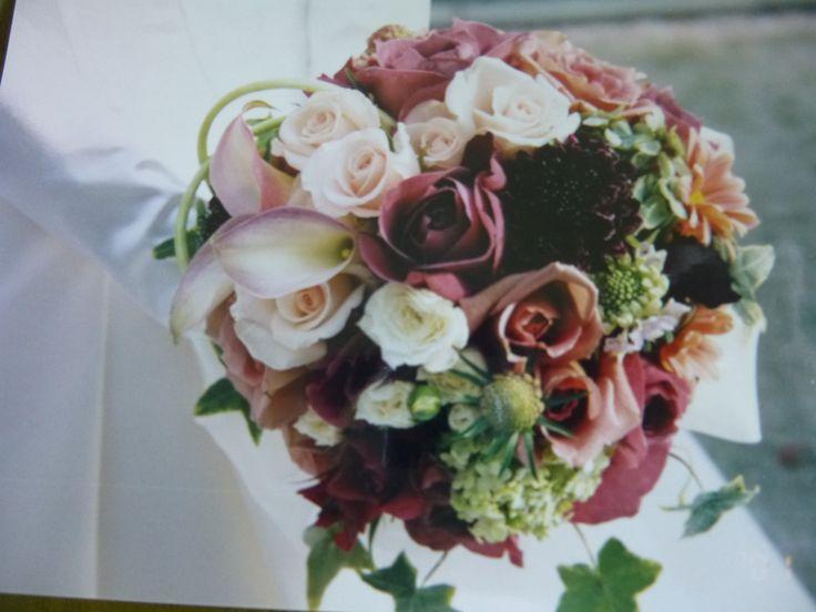 Burgundy Wedding Bouquet made by Kent Florist Mikiko Inoue