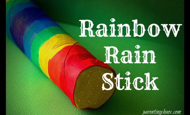 Rainbow Rain Stick Craft via @pixilatedskies